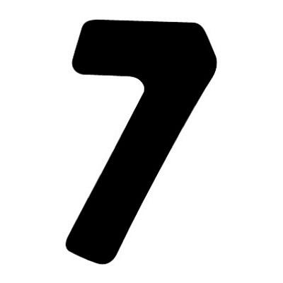 タカ印 アドポップ 数字 黒抜き 7 23-287 1箱(240片(30片×8シート)入×10冊) (取寄品)