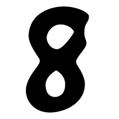 タカ印 アドポップ 数字 黒抜き 8 23-288 1箱(240片(30片×8シート)入×10冊) (取寄品)