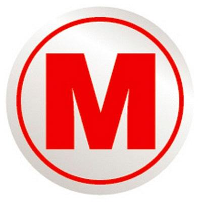 タカ印 アドポップ サイズ表示 M 23-501 1箱(540片(45片×12シート)入×20冊) (取寄品)