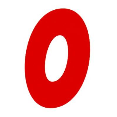 タカ印 アドポップ 数字 赤抜き 0 23-80 1箱(300片(30片×10シート)入×10冊) (取寄品)