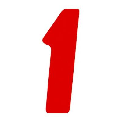 タカ印 アドポップ 数字 赤抜き 1 23-81 1箱(420片(42片×10シート)入×10冊) (取寄品)