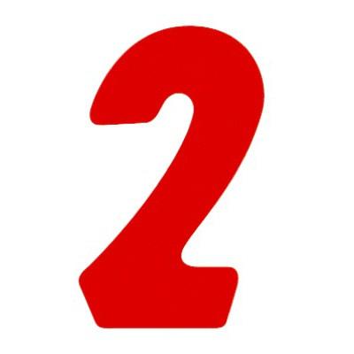 タカ印 アドポップ 数字 赤抜き 2 23-82 1箱(300片(30片×10シート)入×10冊) (取寄品)