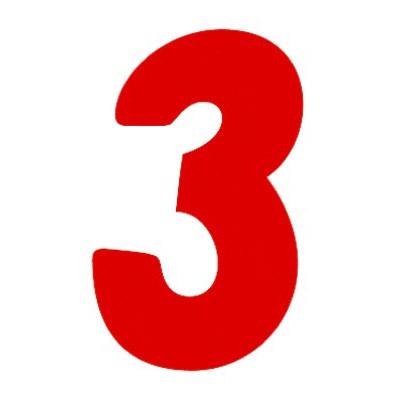 タカ印 アドポップ 数字 赤抜き 3 23-83 1箱(300片(30片×10シート)入×10冊) (取寄品)