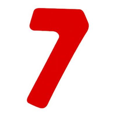 タカ印 アドポップ 数字 赤抜き 7 23-87 1箱(300片(30片×10シート)入×10冊) (取寄品)