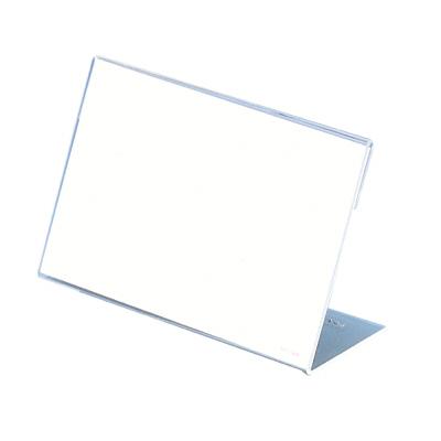 タカ印 カード立 L型アクリル・トーメイ 34-3565 1箱(5個袋入×2袋) (取寄品)
