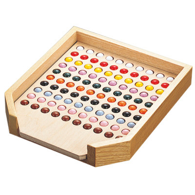 タカ印 抽選球整理箱 100穴 37-7830 (取寄品)