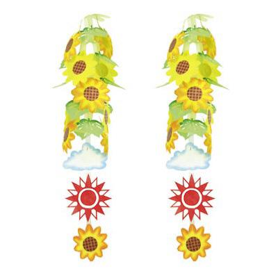 タカ印 季節装飾 ひまわりランタン 39-1832 1セット(2本袋入) (取寄品)