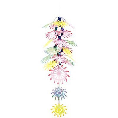 タカ印 季節装飾 花火ランタン 39-1835 1セット(2本袋入) (取寄品)