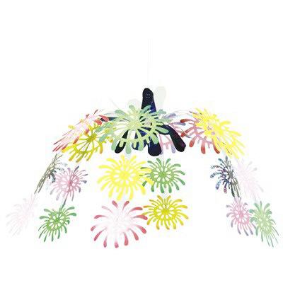 タカ印 季節装飾 花火ドロップセンター 39-1837 (取寄品)