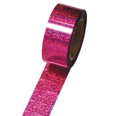 タカ印 メッキテープ ホログラム桃 50 40-4398 (取寄品)