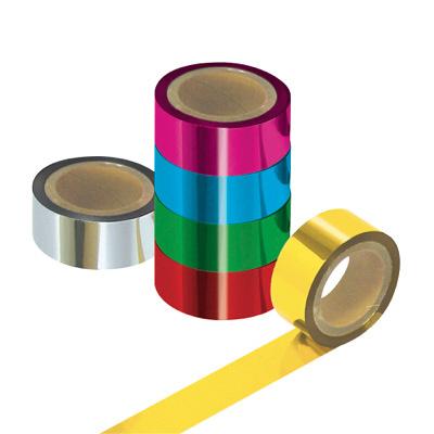 タカ印 メッキテープ 40-4459 1袋(6色各1個入) (取寄品)