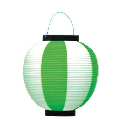 タカ印 ポリ提灯 緑白(旧39-7040) 40-7040 1箱(5個入) (取寄品)