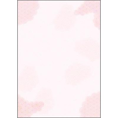 タカ印 和柄OA用紙 和ごころ 桃紗綾雲 4-1000 1袋(10枚袋入×5冊) (取寄品)