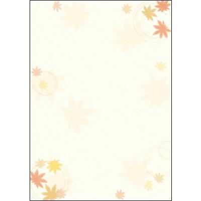 タカ印 和柄OA用紙 和ごころ 紅葉 4-1003 1袋(10枚袋入×5冊) (取寄品)