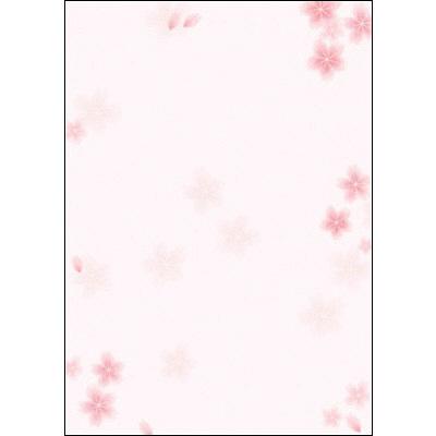 タカ印 和柄OA用紙 和ごころ 桜 4-1005 1袋(10枚袋入×5冊) (取寄品)