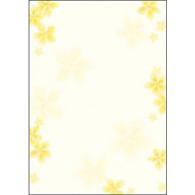 タカ印 和柄OA用紙 和ごころ やまぶき 4-1008 1袋(10枚袋入×5冊) (取寄品)