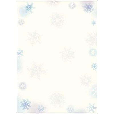 タカ印 和柄OA用紙 和ごころ 雪の結晶 4-1011 1袋(10枚袋入×5冊) (取寄品)