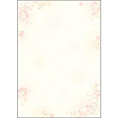 タカ印 和柄OA用紙 和ごころ 枝桜 4-1020 1袋(10枚袋入×5冊) (取寄品)