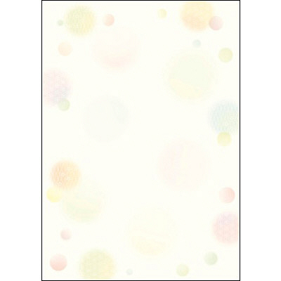 タカ印 和柄OA用紙 和ごころ 水玉 4-1027 1袋(10枚袋入×5冊) (取寄品)
