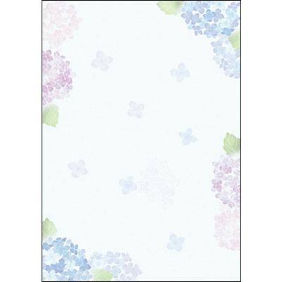 タカ印 和柄OA用紙 和ごころ 紫陽花 4-1032 1袋(10枚袋入×5冊) (取寄品)