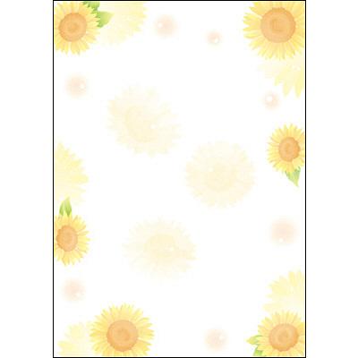 タカ印 和柄OA用紙 和ごころ ひまわり 4-1033 1袋(10枚袋入×5冊) (取寄品)