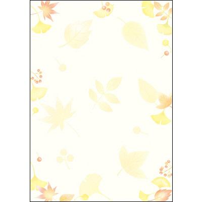 タカ印 和柄OA用紙 和ごころ 落ち葉 4-1035 1袋(10枚袋入×5冊) (取寄品)