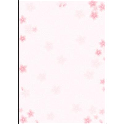 タカ印 和柄OA用紙 和ごころ 桜 A3 4-1805 1袋(10枚袋入×5冊) (取寄品)