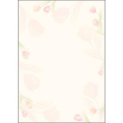 タカ印 デザインペーパーフラール チューリップ 4-3002 1袋(10枚袋入×5冊) (取寄品)