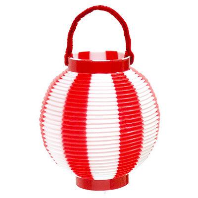 タカ印 ミニ提灯 赤白 46-6047 1袋(5個入) (取寄品)