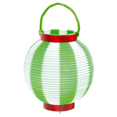 タカ印 ミニ提灯 緑白 46-6050 1袋(5個入) (取寄品)