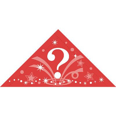 タカ印 三角くじ 機械貼(?)4等 5-554 1袋(24片袋入×10冊) (取寄品)
