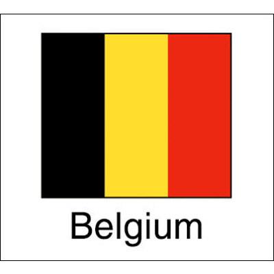 タカ印 国旗シール Belgium 22-2522 1袋(96片(24片×4シート)入×10冊) (取寄品)
