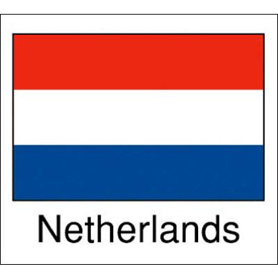 タカ印 国旗シール Netherlands 22-2504 1袋(96片(24片×4シート)入×10冊) (取寄品)
