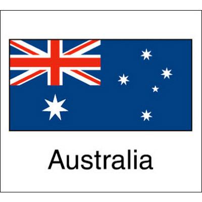 タカ印 国旗シール Australia 22-2514 1袋(96片(24片×4シート)入×10冊) (取寄品)