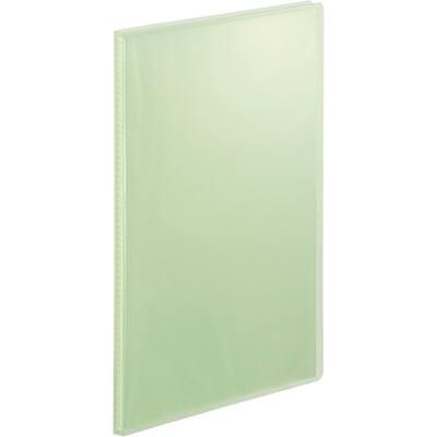 テージー クリアファイル 固定式20ポケット 20冊 A4タテ 透明表紙 ライトグリーン マイホルダー