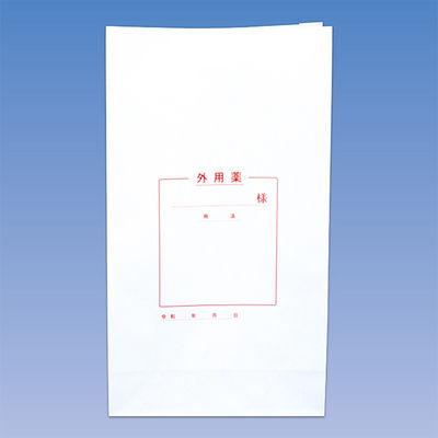 シンリョウ 手書き用薬袋 角底L 外用 500972 1箱(500枚入)