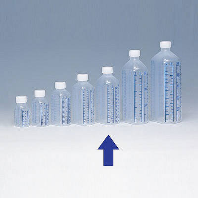 シンリョウ プリントメモリ瓶/青目盛 200ml 107050 1箱(80本入)