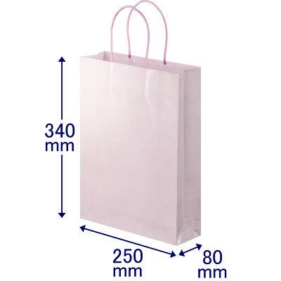 丸紐 手提げ紙袋 ローズ L 90枚