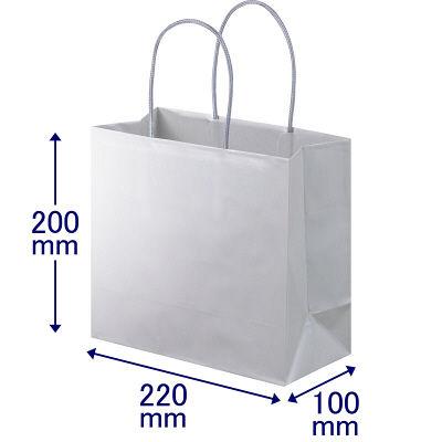 丸紐 手提げ紙袋 グレー M 30枚
