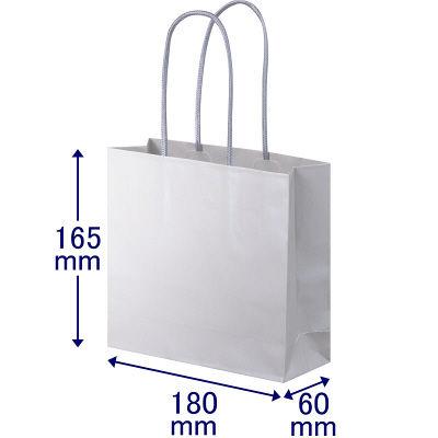 丸紐 手提げ紙袋 グレー S 90枚