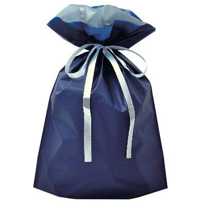 タカ印 巾着袋 ネイビー 大 1P 50-4560 1セット(5枚入り) (取寄品)