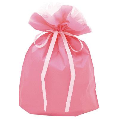 巾着袋 ピンク 大  5枚入