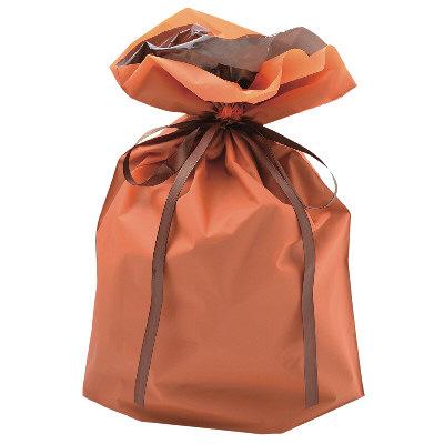 タカ印 巾着袋 オレンジ 大 1P 50-4563 1セット(5枚入り) (取寄品)