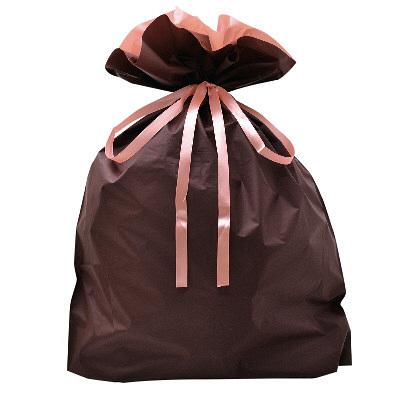タカ印 巾着袋 ブラウン 特大 1P 50-4661 1セット(5枚入り) (取寄品)