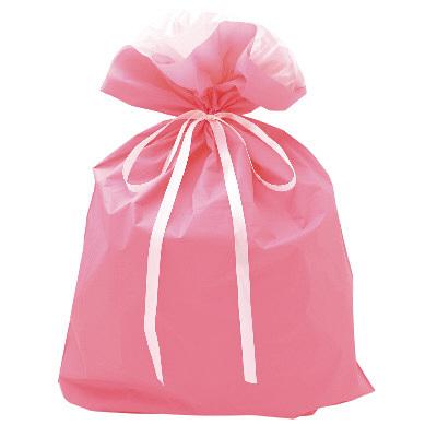 タカ印 巾着袋 ピンク 特大 1P 50-4662 1セット(5枚入り) (取寄品)