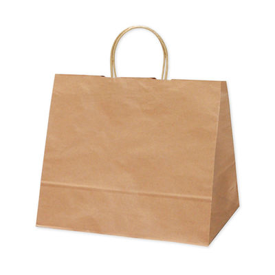 タカ印 手提げバッグ 10P未晒 幅広小 50-6001 1袋(10枚入り) (取寄品)