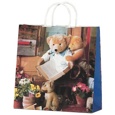 タカ印 手提げバッグ 10Pハニーベア 大 50-6215 1袋(10枚入り) (取寄品)