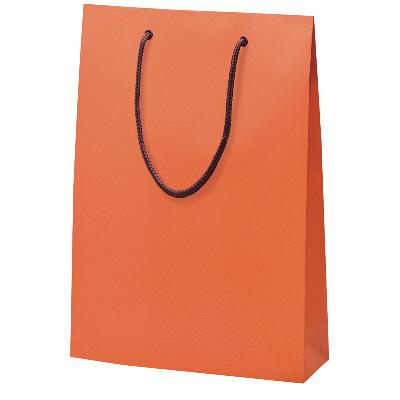 手提げ紙袋 オレンジ 10枚