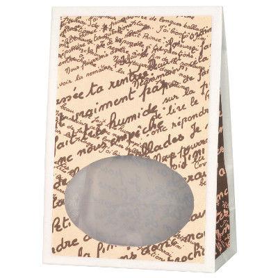 タカ印 窓付バッグ フレンチレターCR 50-3121 1袋(50枚入り) (取寄品)