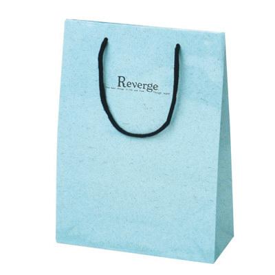 タカ印 手提げバッグ キュートリバージュ ブルー 50-6432 1セット(5枚入り) (取寄品)